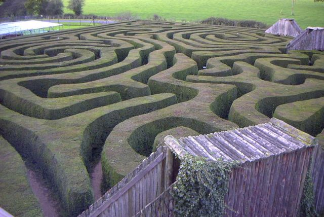 The Maze at Longleat House, England