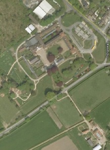 an aerial view of Gressenhall Farm and Workhouse Museum