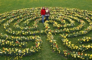 A simple bulb labyrinth at Cornell University, USA