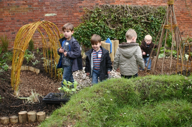 Simple natural elements can make a garden special for younger children