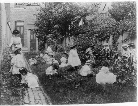 school gardening a century ago- birth of the 'kindergarten'