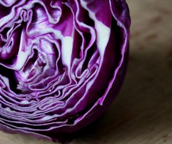 Red cabbage- lovely sliced and steamed with apple and onion in a little water, wine vinegar and sugar...