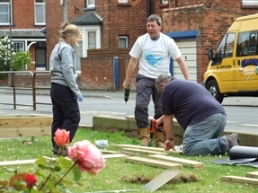 Local businesses can be involved in creating the garden