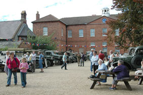 Today's courtyard on an event day at the Museum