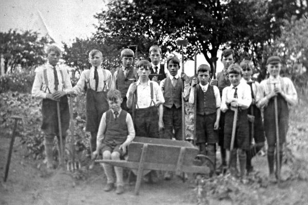 School gardening - old style!