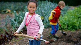Children digging in