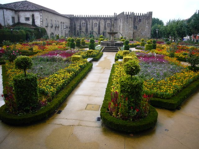 A public garden in Braga, northern Portugal.