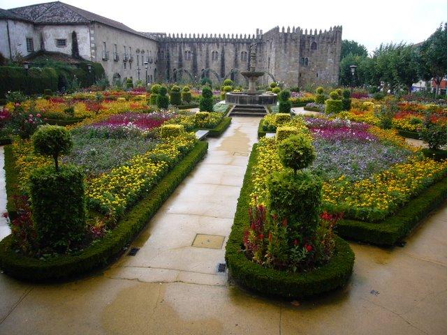 A public garden in Braga, northern Portugal.