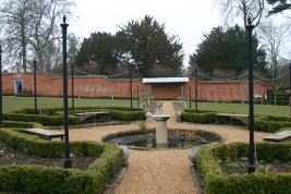 Centre fountain in the Walled Garden