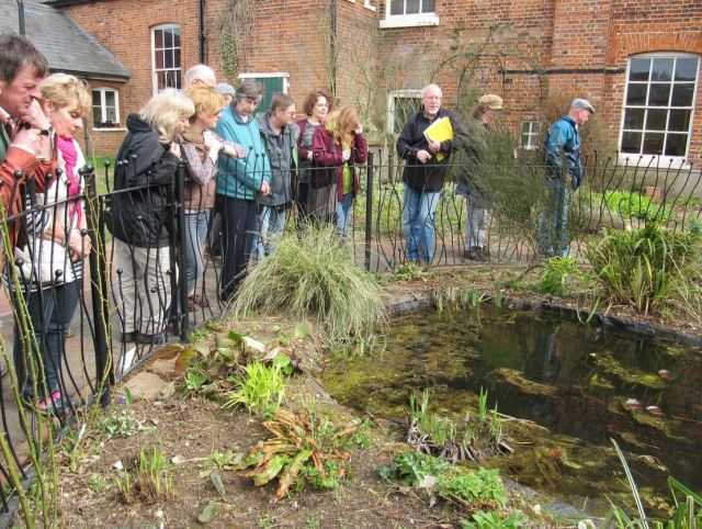Me showing 20 new Master Gardeners around the Wildlife Garden at Gressenhall Farm and Workhouse Museum