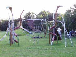 Oakes FF- clkimbing frame in older children's area