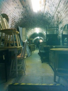 Downstairs in the vaulted cellar of Reed's