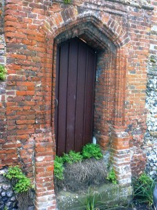 Lovely shaped brick door surround
