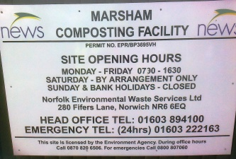 The composting facility at Marsham has been operating about 1 year