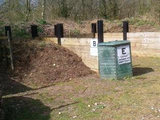 Gressenhall's compost area- reorganise dlast year to make it more 'gardener friendly'