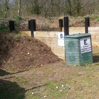 Gressenhall's compost area- reorganise dlast year to make it more 'gardener friendly'