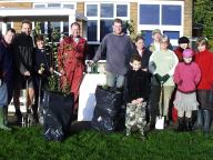 School- hedge planting event