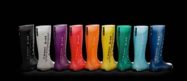 rain measuring boots