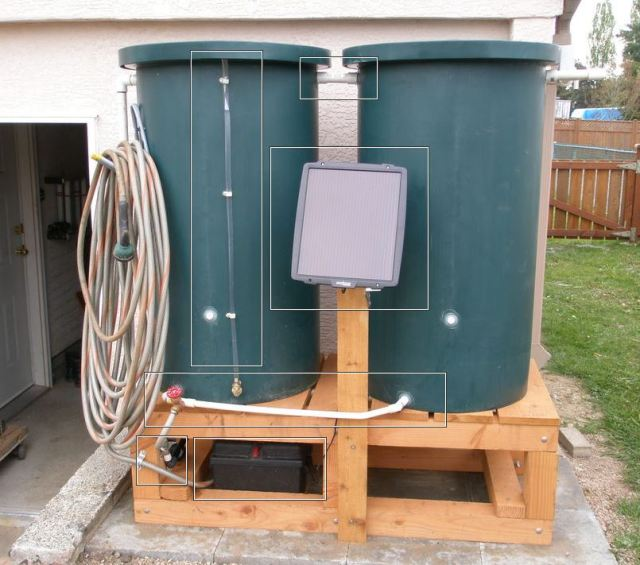 A solar-powered water harvesting and distrbution system