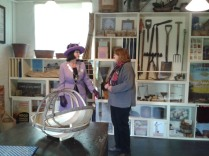 Hilary Cox with founder Curator Bridget Yates inside the Seed Shop display. Picture: Breckland View