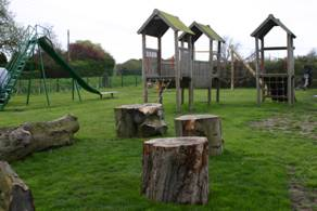 Social area and climbing unit in older children's area