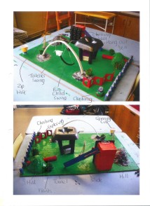 Children's models of their own play area designs