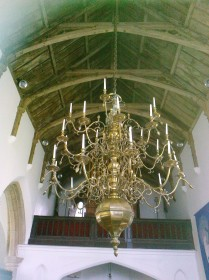 Stratton Strawless Church- roof and candelabra