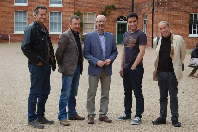 The GQT Team at Gressenhall- from left: Matthew Wilson, Chris Beardshaw, Peter Gibbs, James Wong and Bob Flowerdew