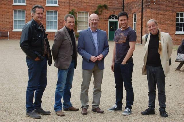 The GQT Team at Gressenhall- from left: Matthew Wilson, Chris Beardshaw, Peter Gibbs, James Wong and Bob Flowerdew