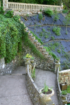 Stairway and replanted slope