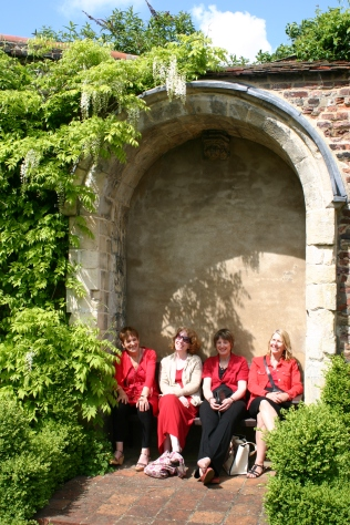 Resting between performances- some of the choir