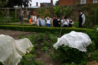 A School Group visting Cherry Tree Cottage Garden