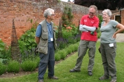 Fellow gardeners Steve, Michael and Lynne 'chewing the cud'