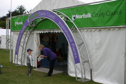 Welcome to the County Council tent...