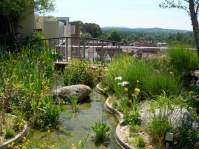 The roof garden designed by Sir Geoffrey Jellicoe