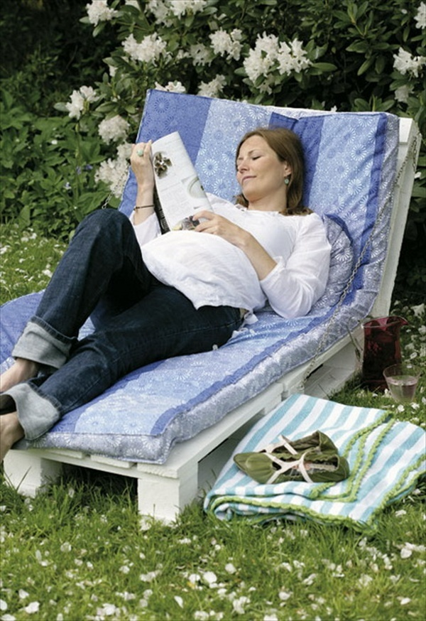 Relax (note the old pallet turned into a stylish lounger) and plan ahead...