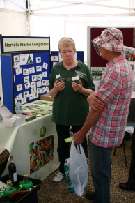 Master composter Mary offering some advice