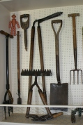 Old Garden tools in the Seed Merchant shop