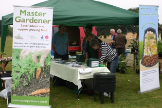 Master Gardener and Composter stand at the 'Fun Day'
