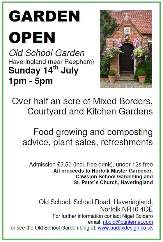 Visit Old School Garden this Sunday!