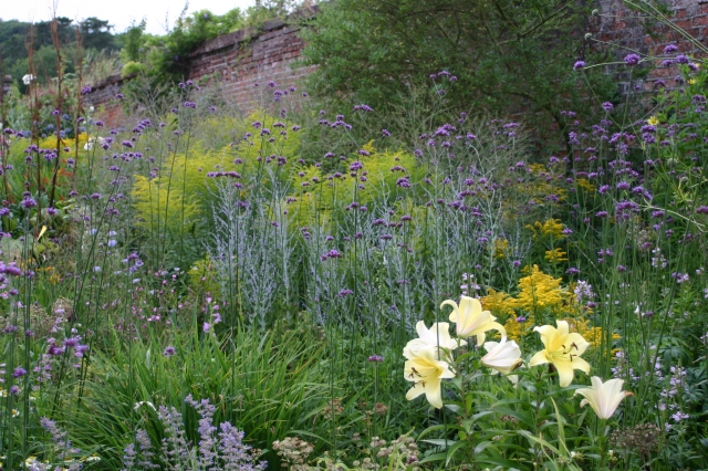 Herbaceous border at Copped Hall, Essex