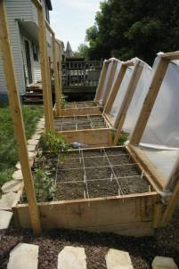 angled and covered raised beds via grow veg