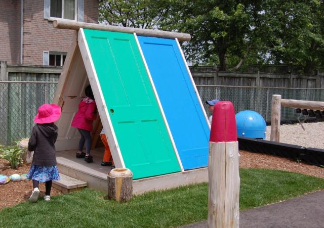 Recycled materials can create a magical space- especially if the children are involved in creating it!