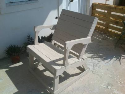pallet chair painted