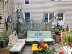 pallet patio by Wrecked Ideas