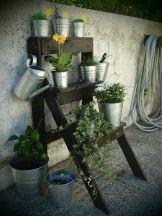 pallet plant ladder