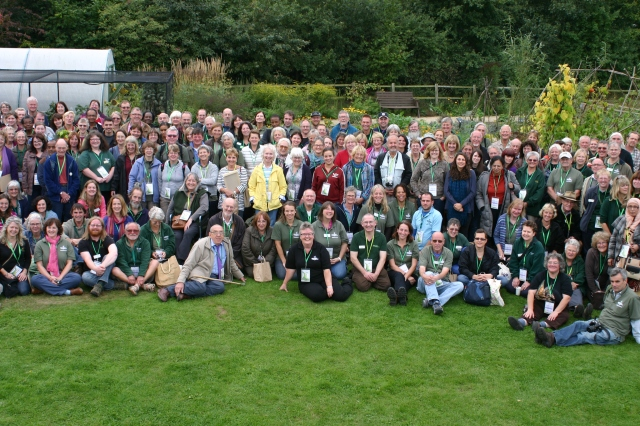 Where's Wally? 250 Master Gardeners and Composters (including me) line up for the annual group photo