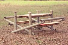 pallet and pole bench