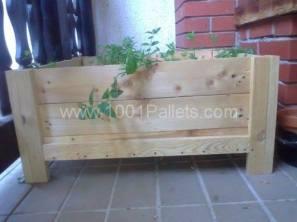 pallet box planter