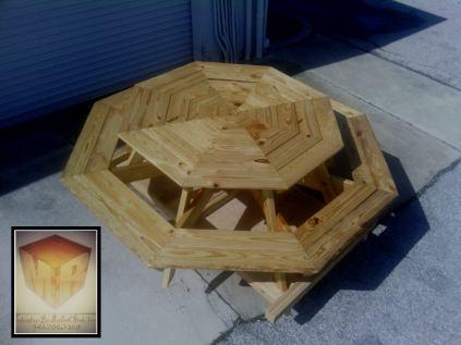 pallet octagonal bench